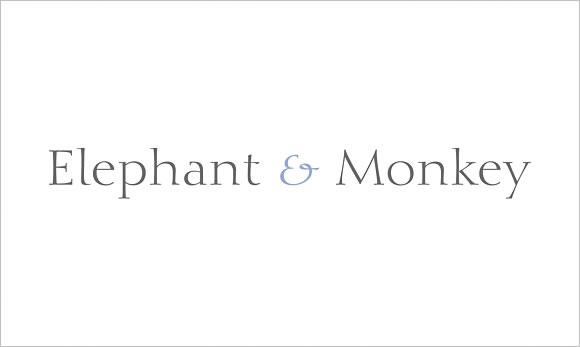 elephant and monkey logo