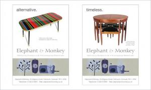 elephant and monkey advertising
