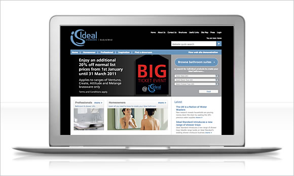 ideal standard website banner