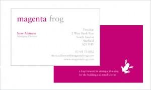 magenta frog stationery