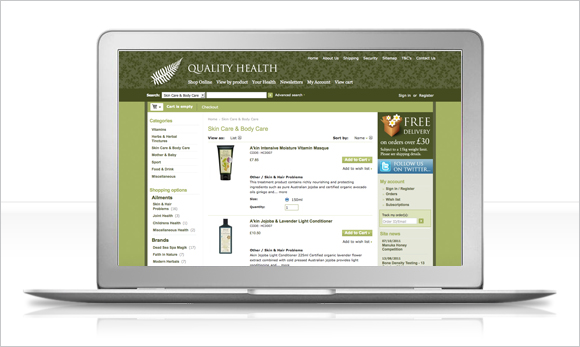 quality health foods website